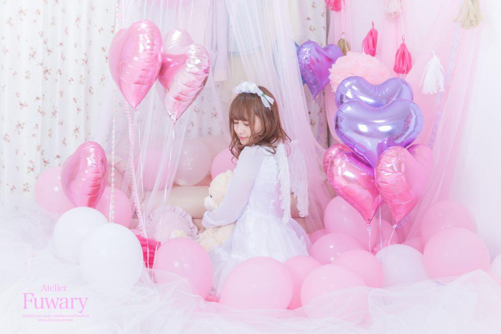 風船ピンク紫パープル