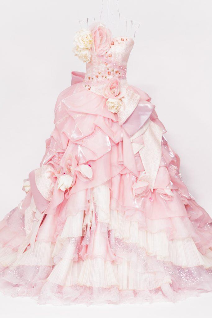 豪華ピンクドレス